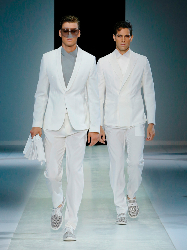 White Suit by Emporio Armani 2014 Summer Collection