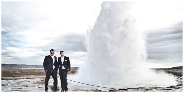 Gay Wedding in Strokkur Geyser