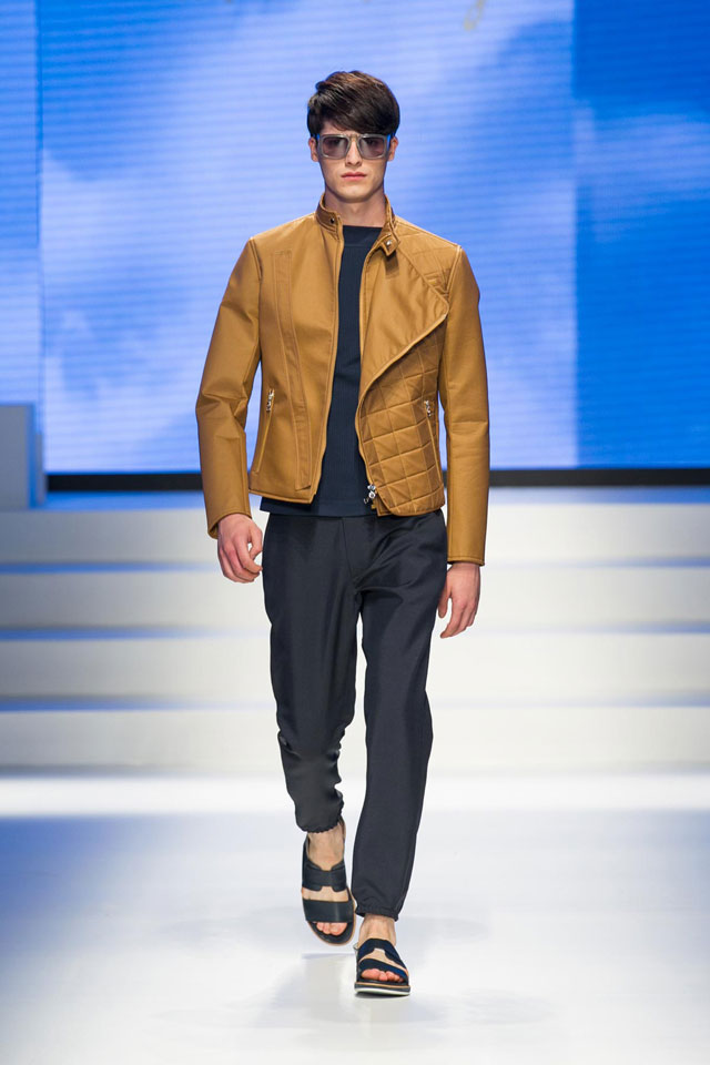 Camel Biker Jacket by Salvatore Ferragamo