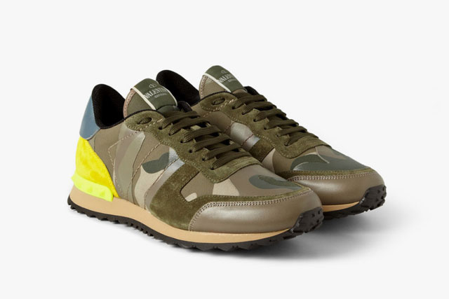 Camouflage trainers by Valentino