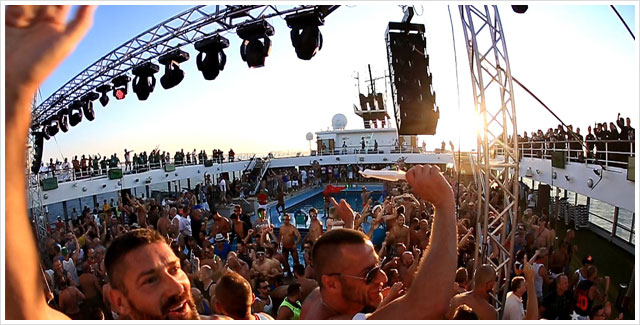 Parties, Shows, on board activities and Full Board