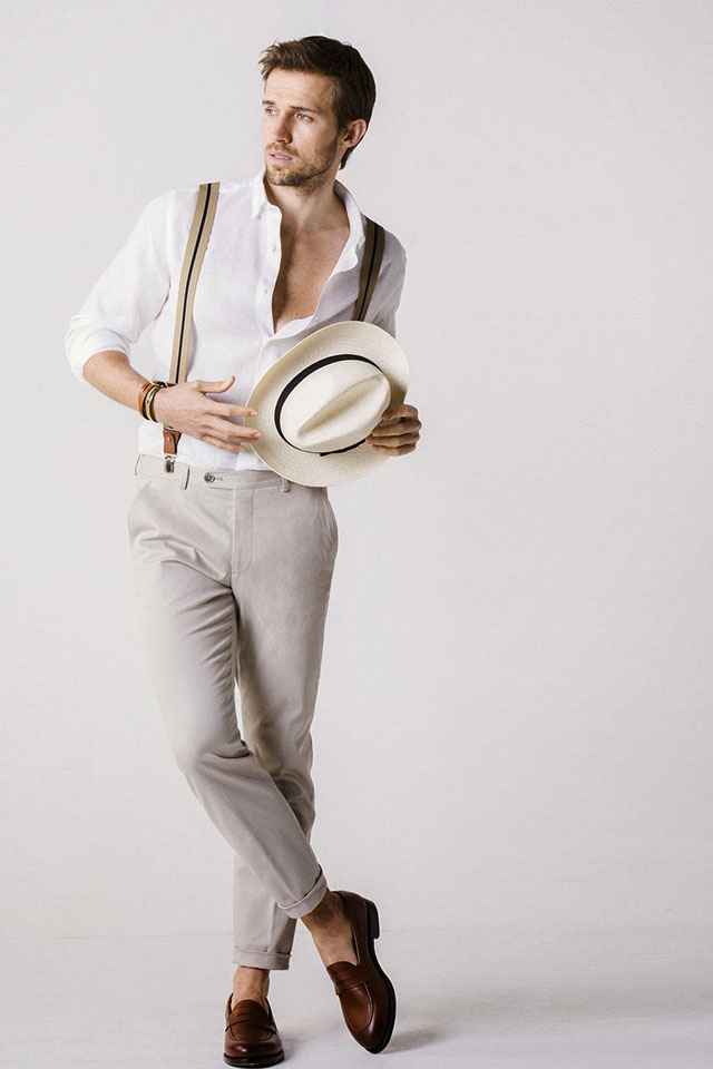 Massimo Dutti - Summer Look with Suspenders - NYC Limited Edition 2014