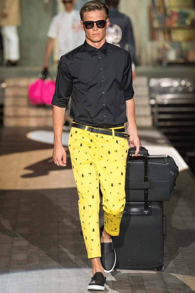 Black and Yellow - Dsquared