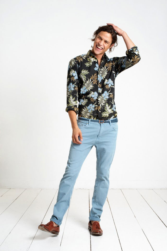 Hawaii Shirt and Blue Pants - Scotch and Soda