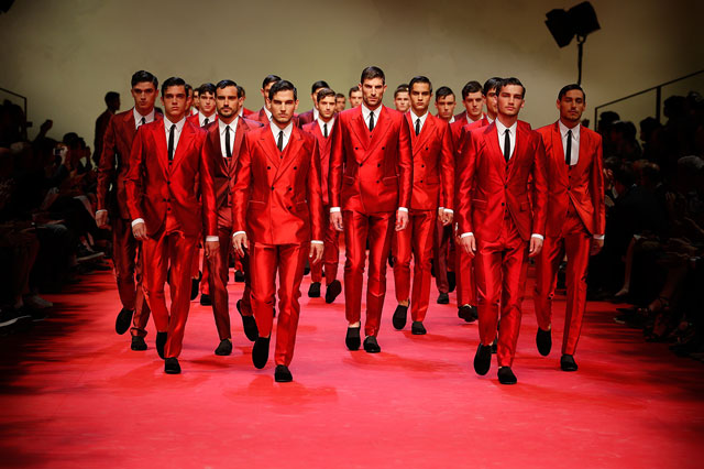 Red - Dolce and Gabbana Summer 2015