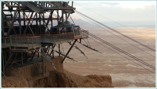 The Cable Car of Masada - Israel