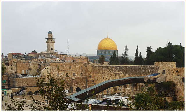 Western Wall and Dome of the Rock - Jerusalem